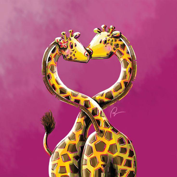 © Stillistic - Nathalie BRIULET - Tous droits réservés. Consultez mon projet @Behance: « Girafe in love » https://www.behance.net/gallery/58099013/Girafe-in-love