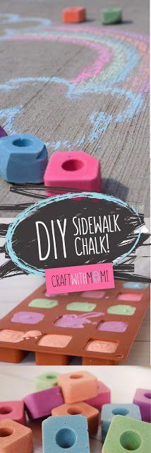 CraftWithMom: DIY Sidewalk chalks | Φτιάχνουμε μόνοι μας κιμωλίες!