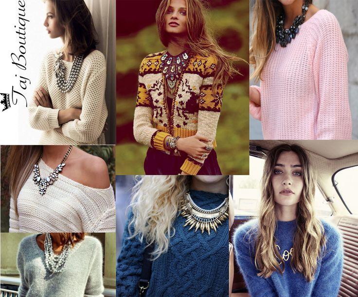 #tajboutique #necklaces # sweater