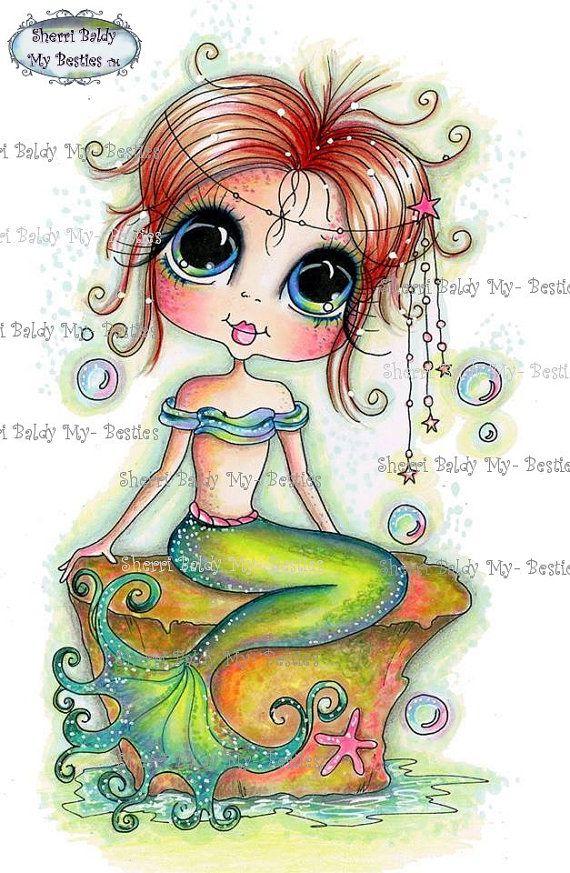 DESCARGAR INSTANT Digital Digi sellos grandes ojo cabeza grande muñecas nuevo Bestie img041 Besties por Sherri Baldy