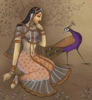Rajasthan-Miniature-Ragini-Ragamala-Painting-Indian-Handmade-Ethnic-Folk-Art