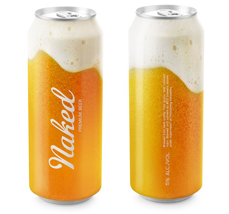 Naked Beer, putting the flavor on can - Designed by Timur Salikhov: Pills Bottle, Timur Salikhov, Packaging Design, Beer Packaging, Naked Beer, Design Concept, Beer Design, Premium Beer, Beer Cans
