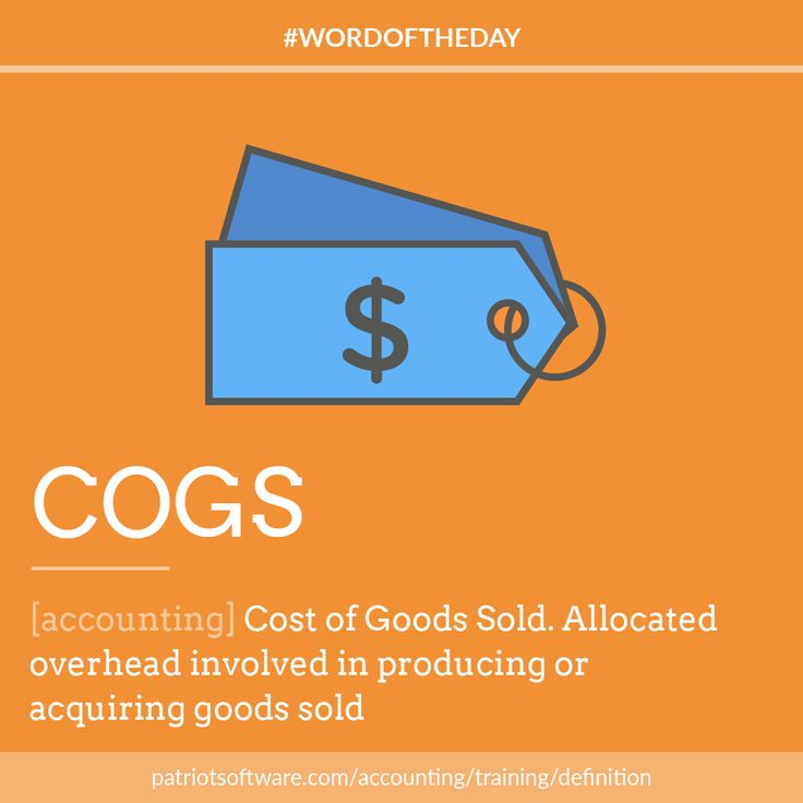 cost of goods sold Just because you earn revenue doesn't mean you've made a profit in this lesson, you'll learn about cost of goods sold, including where it fits on.