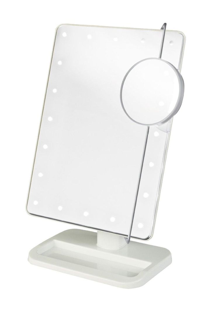 Lighted vanity mirrors make up wall mounted 28 quot round mam2d28 ebay - Black Friday Jerdon Portable Led Lighted Adjustable Tabletop Makeup Mirror With Magnification Spot Mirror White Finish From Jerdon