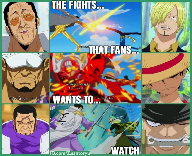 ONE PIECE, Opening 17 - Wake Up, Marines VS Mugiwara\Strawhat Pirates, Admiral Kizaru VS Sanji, Fleet Admiral Sakazuki VS Luffy, Admiral Fujitora VS Roronoah Zoro