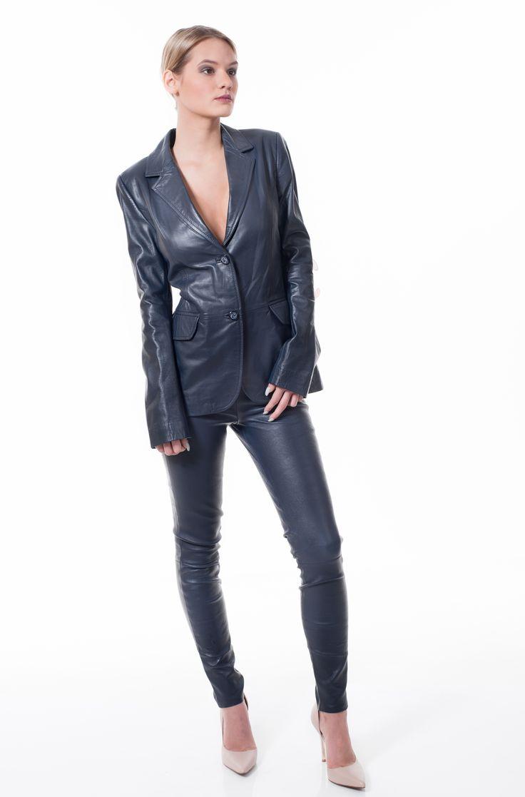кожаные штаны UTERQUE — publicimage.lv