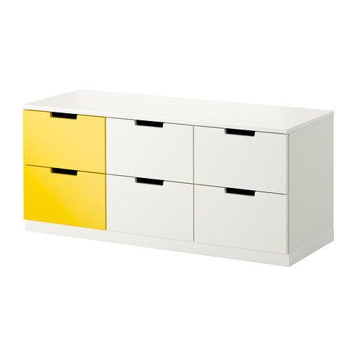 NORDLI Ladekast met 6 lades IKEA Je kan één ladekastmodule gebruiken ...