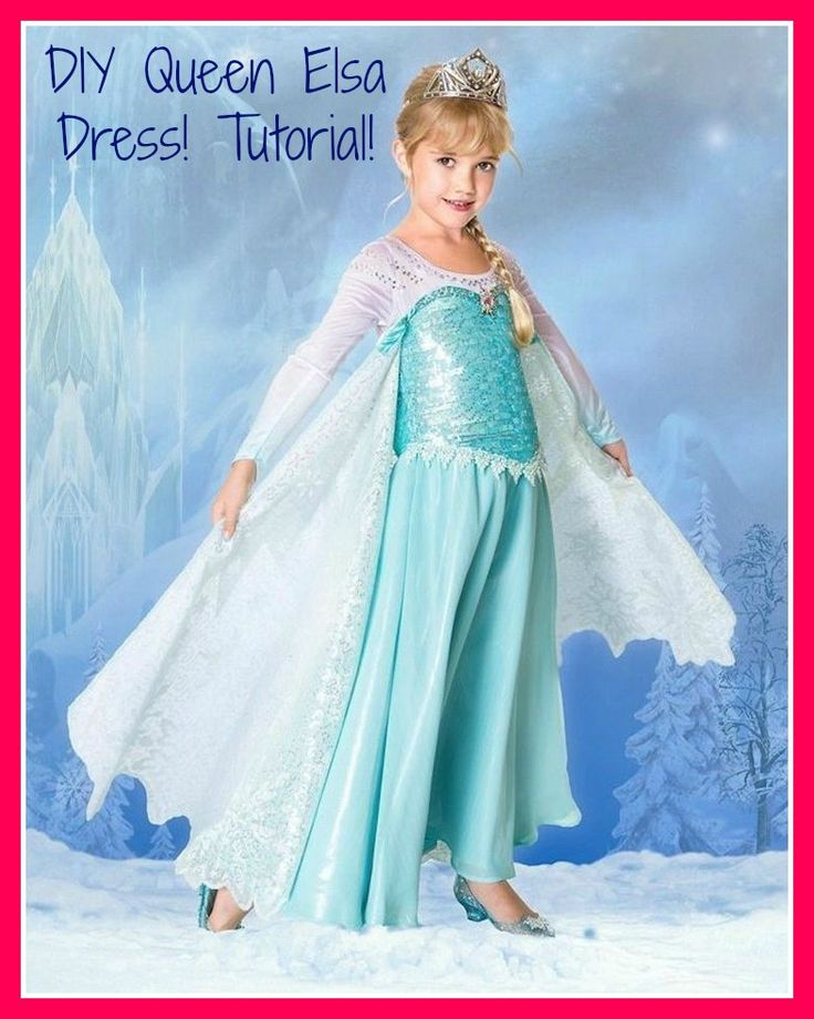 DIY Queen Elsa Dress don't really care about the website but I like this dress as a reference.