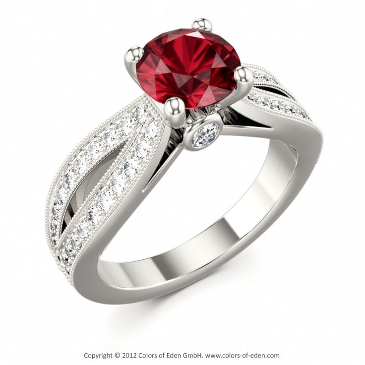 Ruby Engagement Ring SPIRIT #ruby #engagement #ring