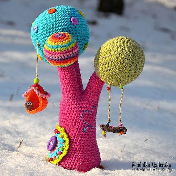 Crochet patrones - árbol del arco iris - por VendulkaM, patrón digital del ganchillo, amigurumi, DIY, pdf