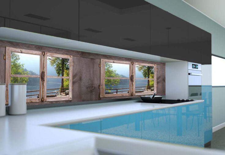 Panel szklany do kuchni OKNA