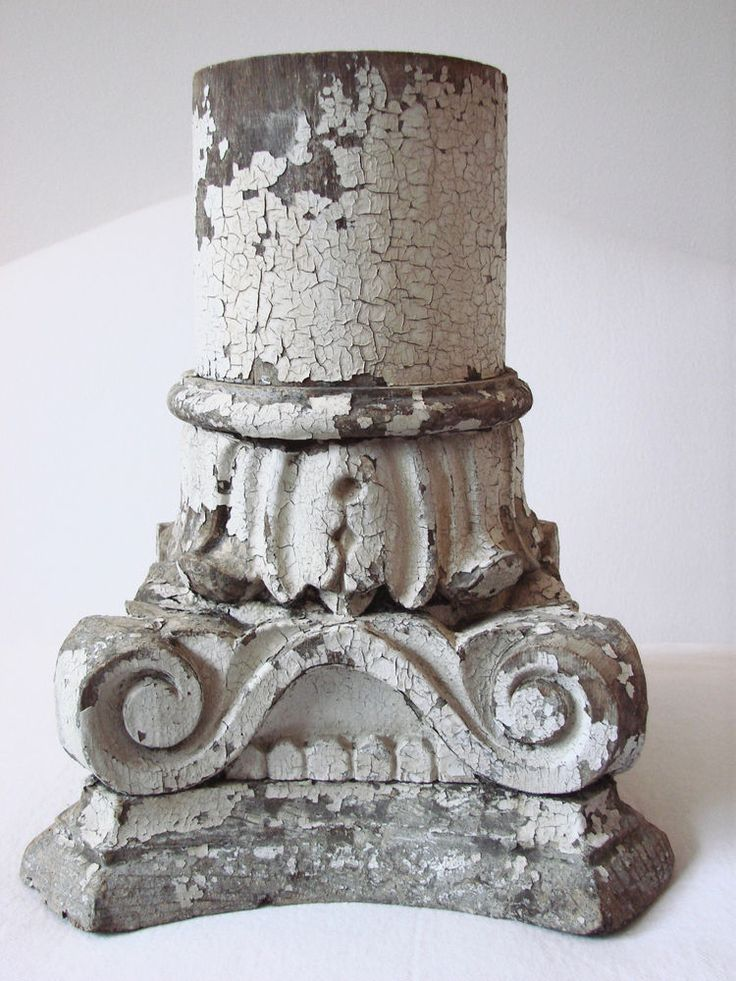 Antique Vintage Wood  Column Capital  Architectural Salvage From San Francisco
