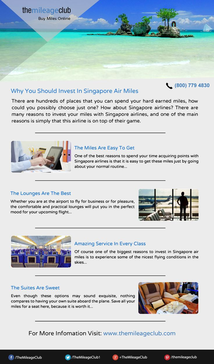 With Amazing prices and superb deals, there are so many reasons why someone should invest in Singapore air miles. #Singaporeairlines #Krisflyer #Miles