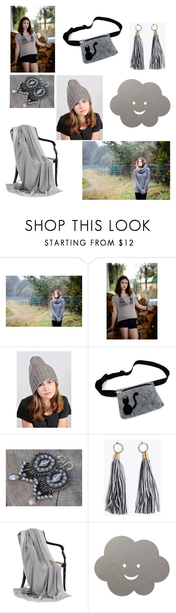 """Woman in gray"" by lidia-malawska ❤ liked on Polyvore featuring Universal and LIND DNA"