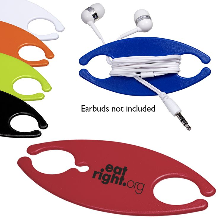 PL-1241 Pocket Earbud Caddy. ABS plastic earbud caddy. Wrap earbud cords around center to prevent tangling. Fits in pocket or purse. Earbuds not included. To order with earbuds see product PL-1246 Earbuds on a Caddy.