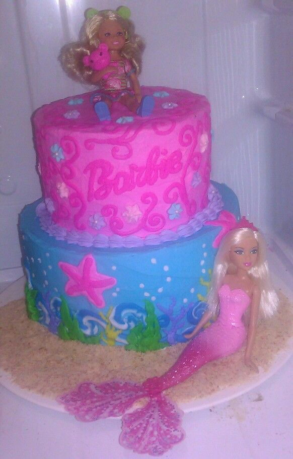 Barbie Mermaid Cake Images : Barbie & Mermaid cake Cakes I ve made Pinterest ...