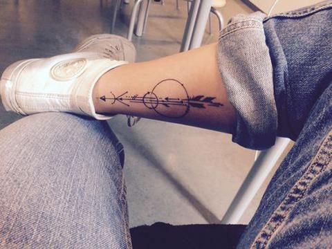 Arrow Leg Temporary Tattoo - MyBodiArt