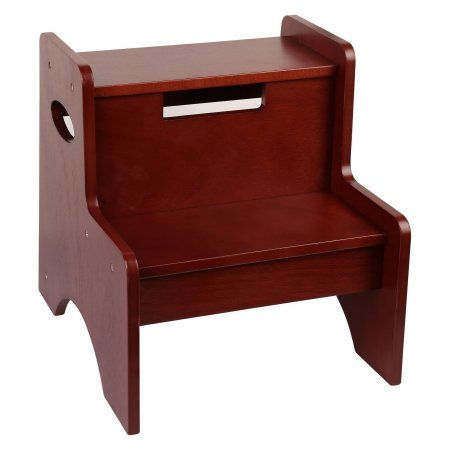 Levels of Discovery Cherry Finish 2-Step Stool, Red