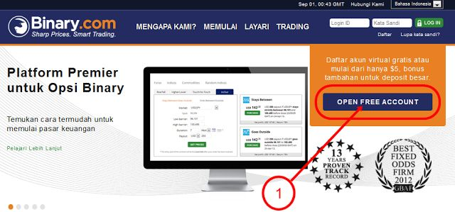 Sukses Betonmarkets/Binary.com: Panduan Cara Daftar Binary.com