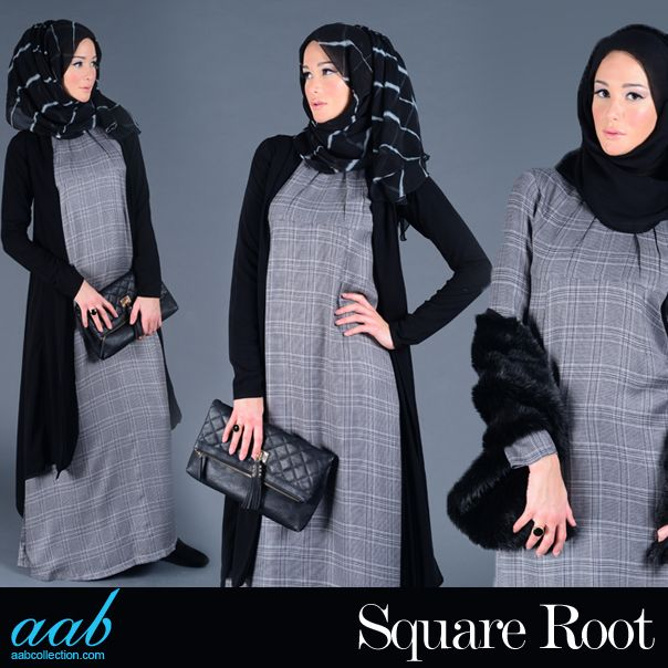 Square is the new cool. So don the plaid and check out all things checkered for the new season.Checks are an effortless yet a never failing classic print, add them to your look  add fur for an easy update. SHOP NOW :  http://www.aabcollection.com/shop/product/chennai-check-abaya/560