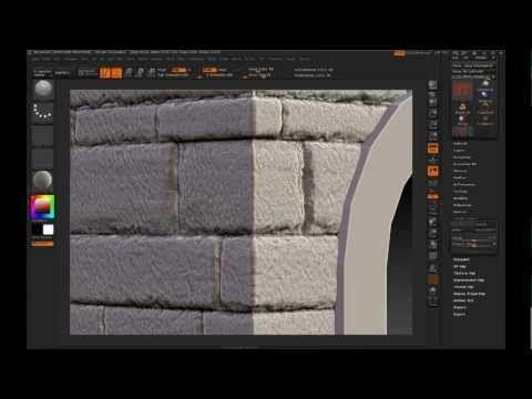 Zbrush sculpt stone wall