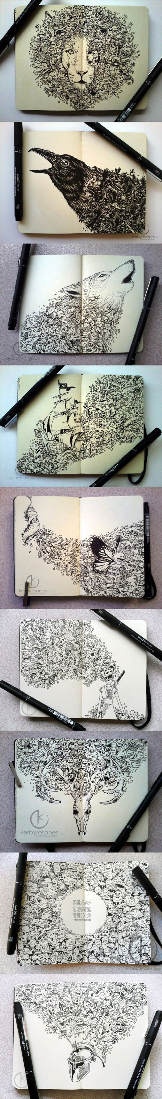 Incredible Moleskine drawings… #doodles #art #drawing