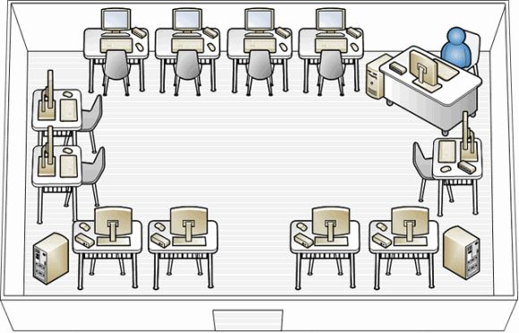 Computer Classroom Design Ideas ~ Modern one room schoolhouse designs wms lablayout