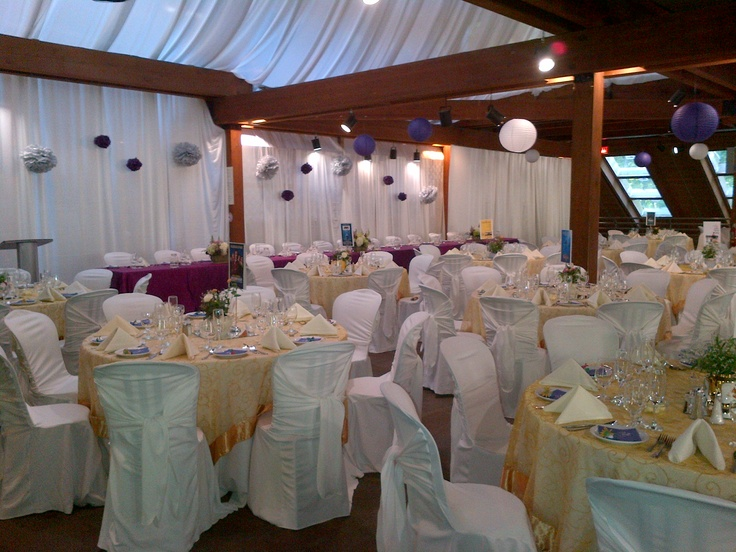 Purple & Gold Wedding at Kortright with AMAZING draping
