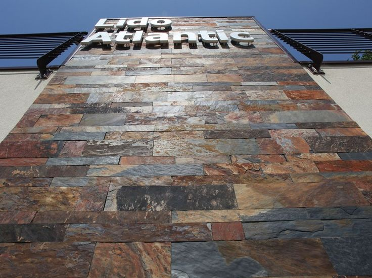Pavimento/rivestimento in pietra AFRICAN SUNSET by ARTESIA® / International Slate Company design Francesca Dondero
