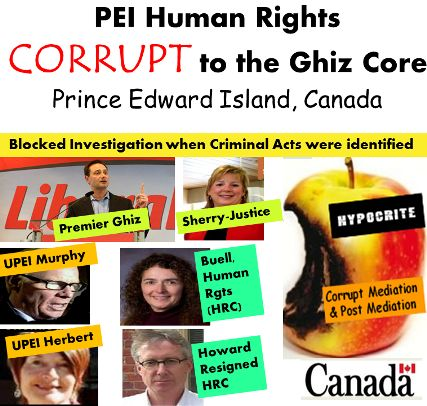 """""""Prince Edward Island Human rights Commission"""" Corrupted Processes Further Violates Traumatized Female Students:  Females Denied Rights on #PEI, #UPEI"""