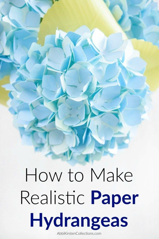 Diy Paper Hydrangea Flowers Templates And Tutorial Paper Flower Template Paper Flower Tutorial Flower Template
