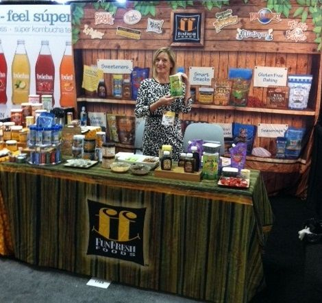 Our funfresh foods booth at the san francisco fancy food show 2014 a great success new from - Food booth ideas ...