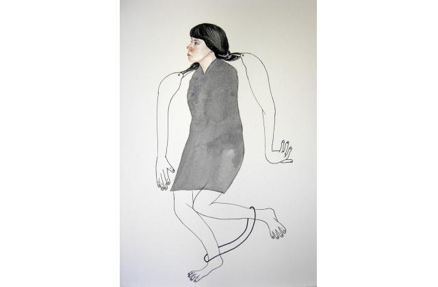 Late Arrangements (Collaboration Erik Jerezano & Kristin Bjornerud)  |Encre et aquarelle sur papier (ink and watercolour on paper) |2010