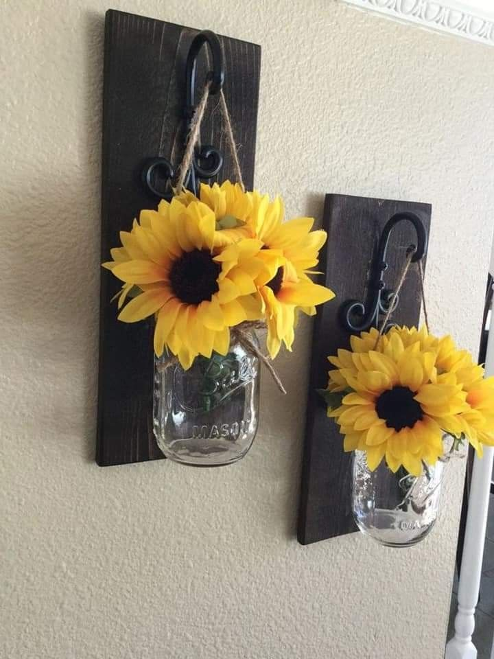 Pin By Josi Lin On Sunflowers Sunflower Home Decor Kitchen Wall