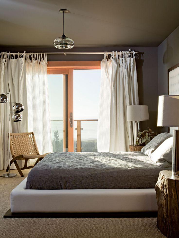 Rustic Bedroom Lighting. Oregon Coast Home   Rustic Bedroom Portland  Jessica Helgerson Interior Design Lighting