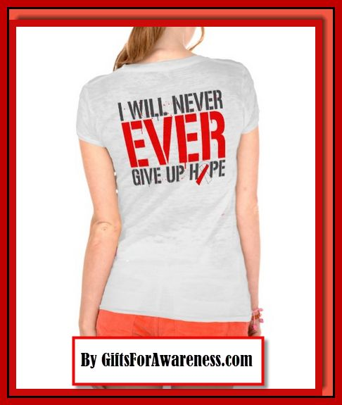 Aplastic Anemia awareness ribbon shirts, apparel and gifts by www.giftsforawareness.com