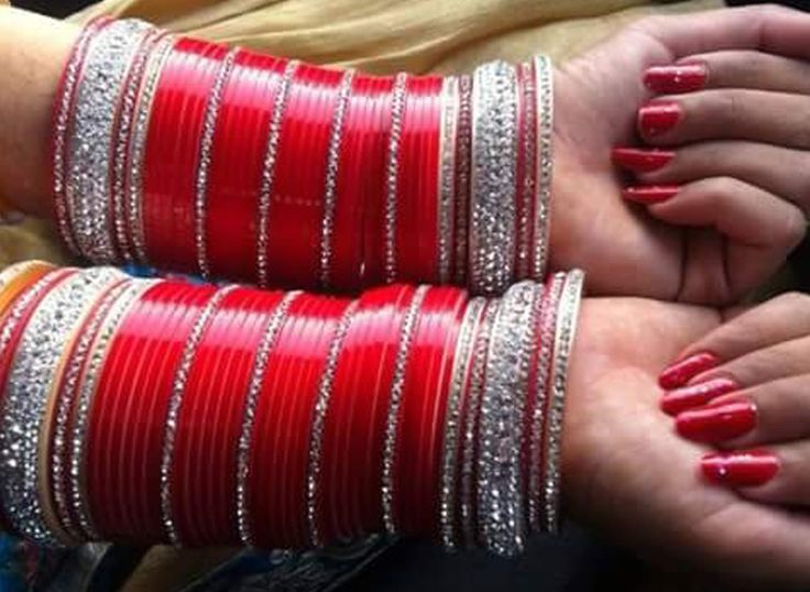 Pictures of Punjabi Wedding Bangles Chura - #rock-cafe