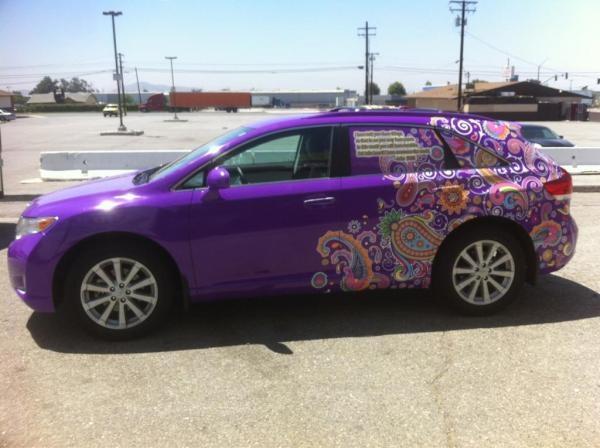 Toyota Venza paisley wrap