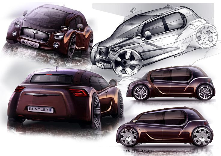 Bentley Concept by Francisco Calado and Denis Zhuralev - Design Sketches