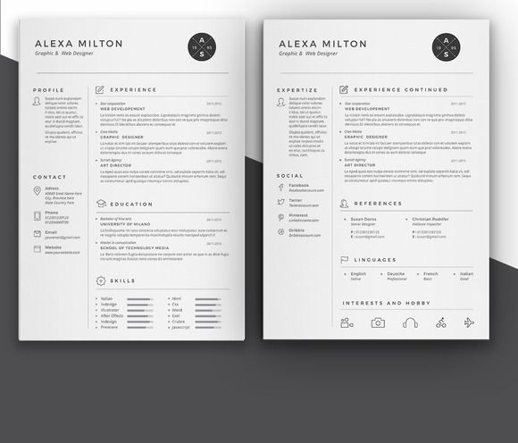 56 Best Resume Templates Images On Pinterest Resume Templates   Pages  Resume Templates  Pages Resume Template
