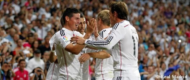 The First Goal James Rodriguez to Real Madrid