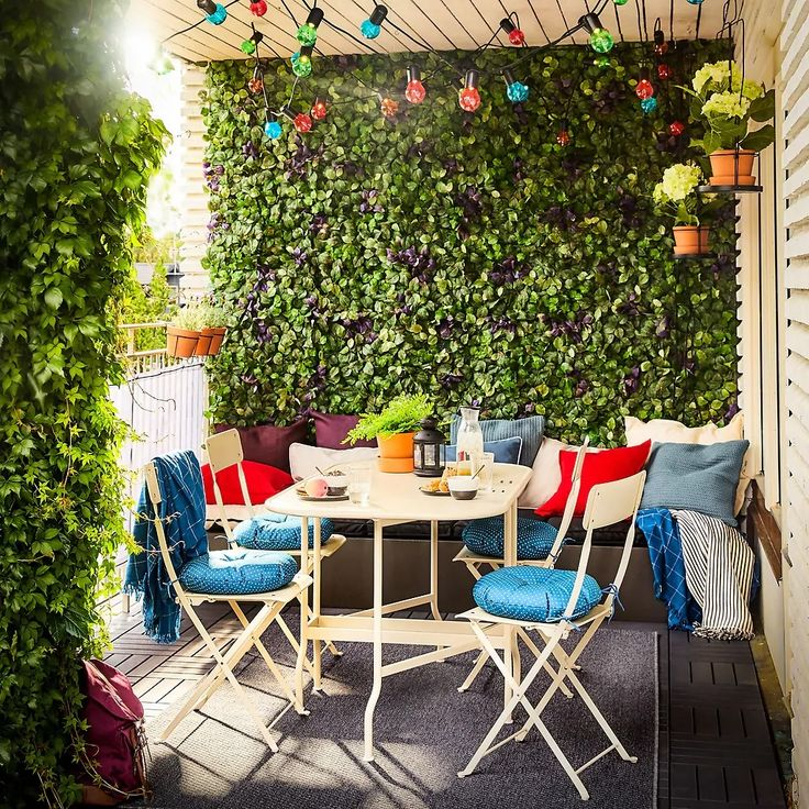 exciting ikea outdoor furniture cushions applied to Small Balcony Design, Small Balcony Garden, Small Balcony Decor, Small Patio, Balcony Ideas, Modern Balcony, Ikea Outdoor, Outdoor Rooms, Outdoor Decor