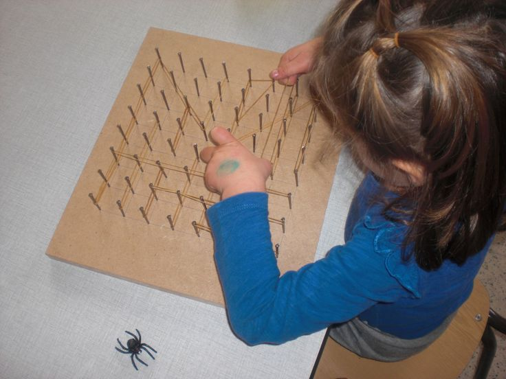Begeleide of zelfstandige activiteit - Een spinnenweb maken!