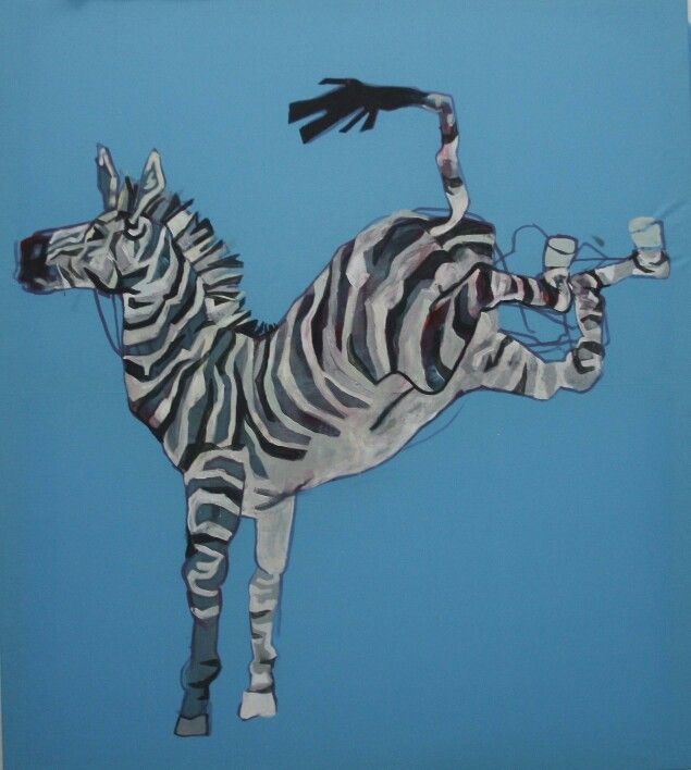 Piekna dynamiczna zebra Beatyfull zebra #painting #zebra #wild #animal Szymon Szelc