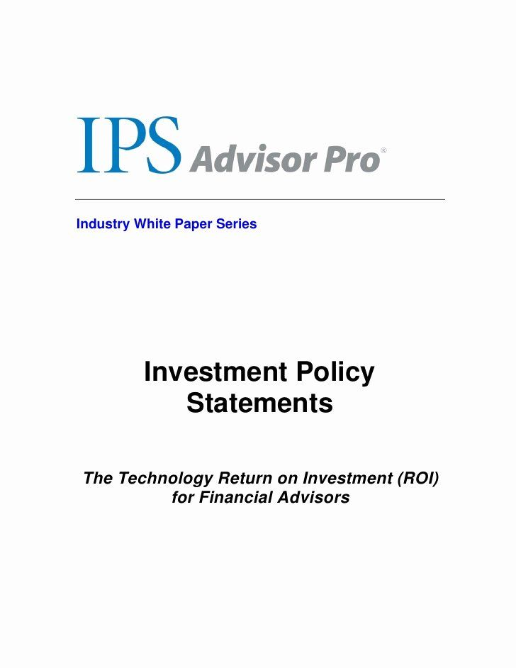 Investment Policy Statement Template Lovely Investment Policy