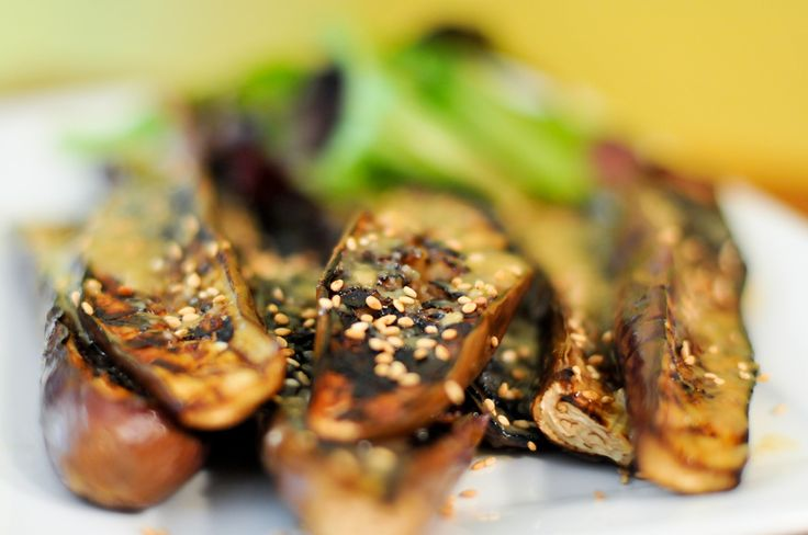 Grilled Chinese Eggplant With Sweet Ginger-Miso Paste Recipe :: The Meatwave
