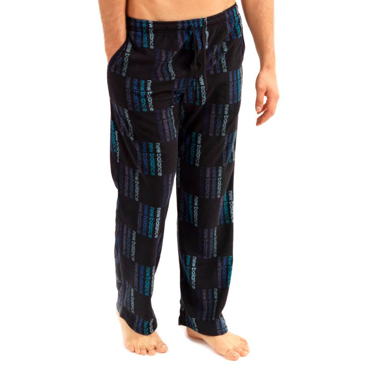 New Balance Microfleece sleepwear Pants – Black/Blue