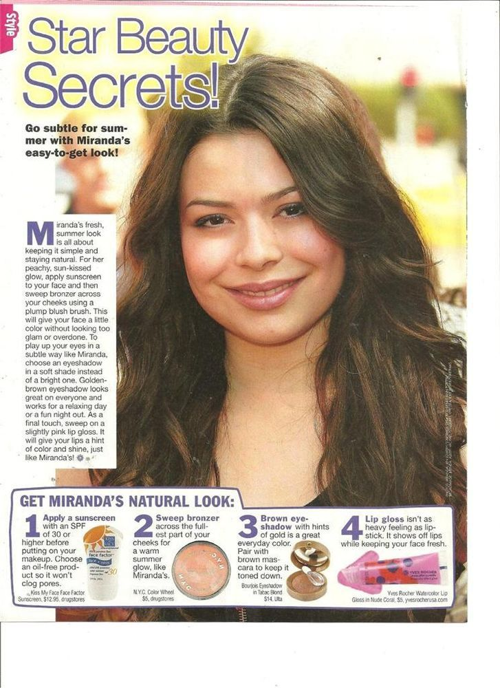 miranda cosgrove full page pinup clipping