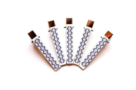 5 Hairpins  Custom Hair pins  Make your own Hair by EtnoWareStore