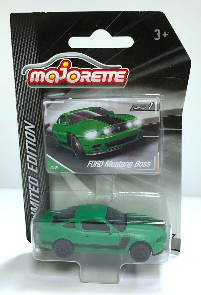 Majorette Ford Mustang Boss Series 1 LE Diecast Car Vehicle 3/6 Green #Majorette